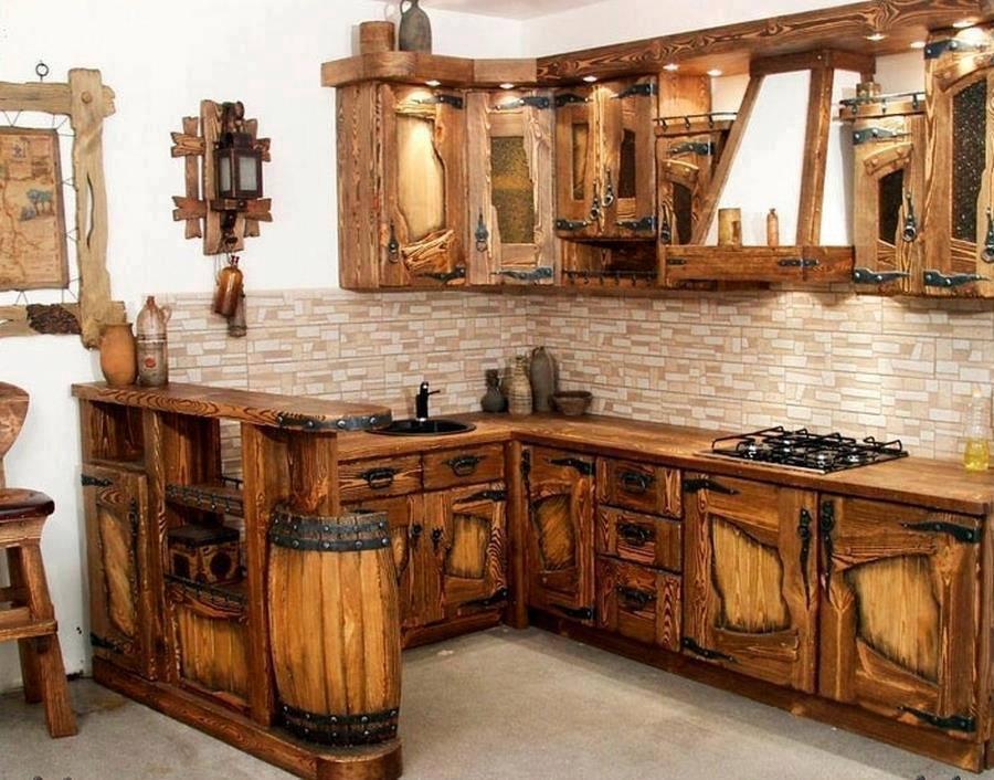Cocina con madera reciclada cosas que pasan for Puertas con madera reciclada
