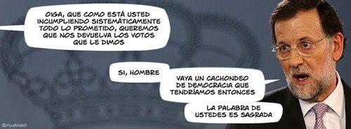 Reclamación a Rajoy