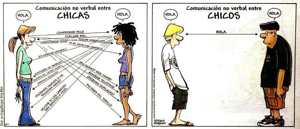 Comunicación no verbal - Diferencias entre chicas y chicos