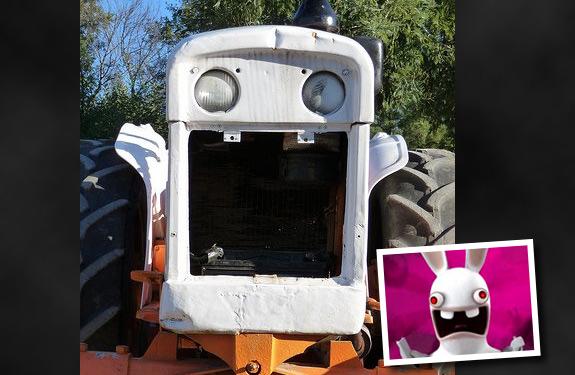 Cosas que parecen caras - Tractor conejo