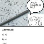 Cosas que pasan en un examen de matemáticas