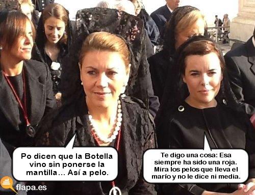 Cospedal y Soraya de marujeo