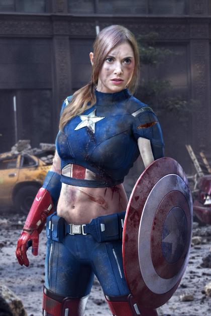 Cosplay Capitán América (versión femenina)