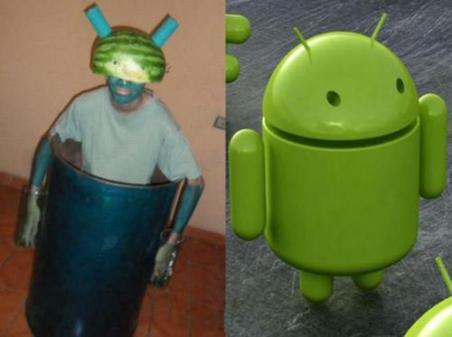 Cosplay fail: Logo Android