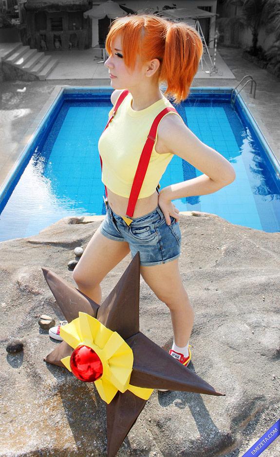 Cosplay Misty (entrenadora de Pokemon de agua)