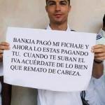 Mensaje de Cristiano Ronaldo