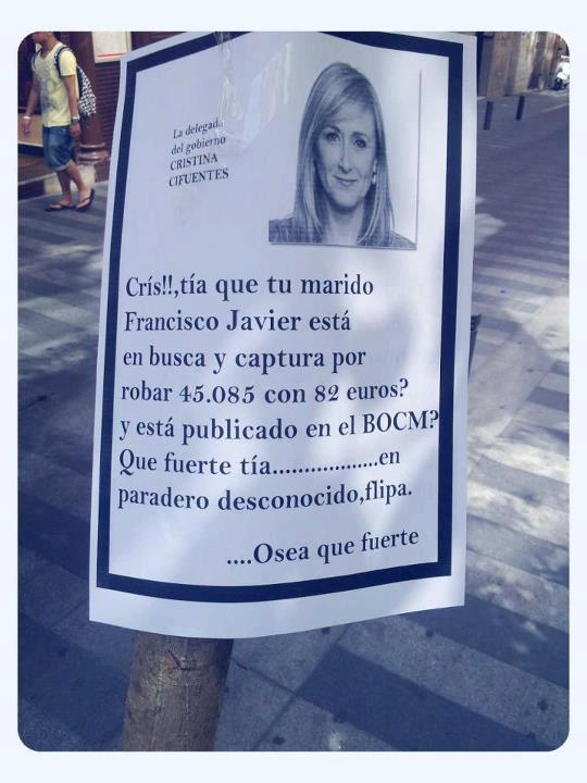 Mensaje para Cristina Cifuentes