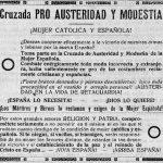 Cruzada pro austeridad y modestia de la mujer española