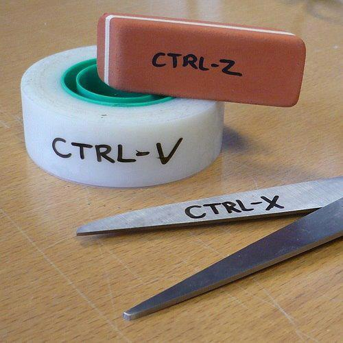 CTRL-Z, CTRL-V y CTRL-X. Explicación gráfica