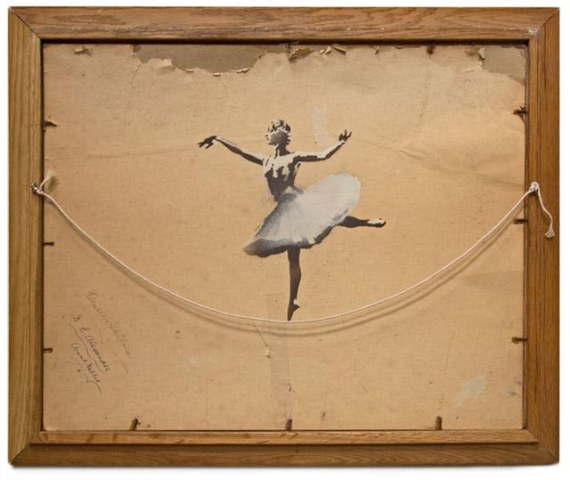 cuadro banksy bailarina sobre cuerda
