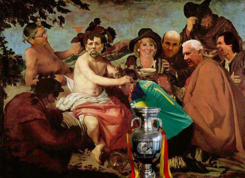 Cuadro conmemorativo de la victoria en la Eurocopa