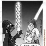 Darth Vader y su nuevo modelo de espada láser