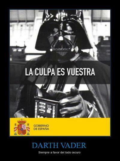 Darth Vader, siempre a favor del lado oscuro