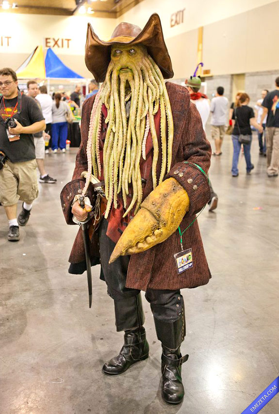 Cosplay Davy Jones (Piratas del Caribe)