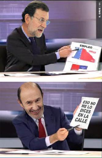 """La """"gráfica"""" de Rubalcaba"""
