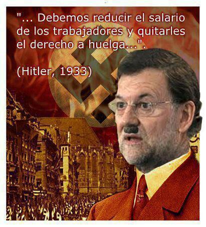 Debemos reducir el salario de los trabajadores y quitarles el derecho a huelga - Hitler, 1933