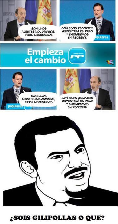 Declaraciones recíprocas de Rubalcaba y Rajoy