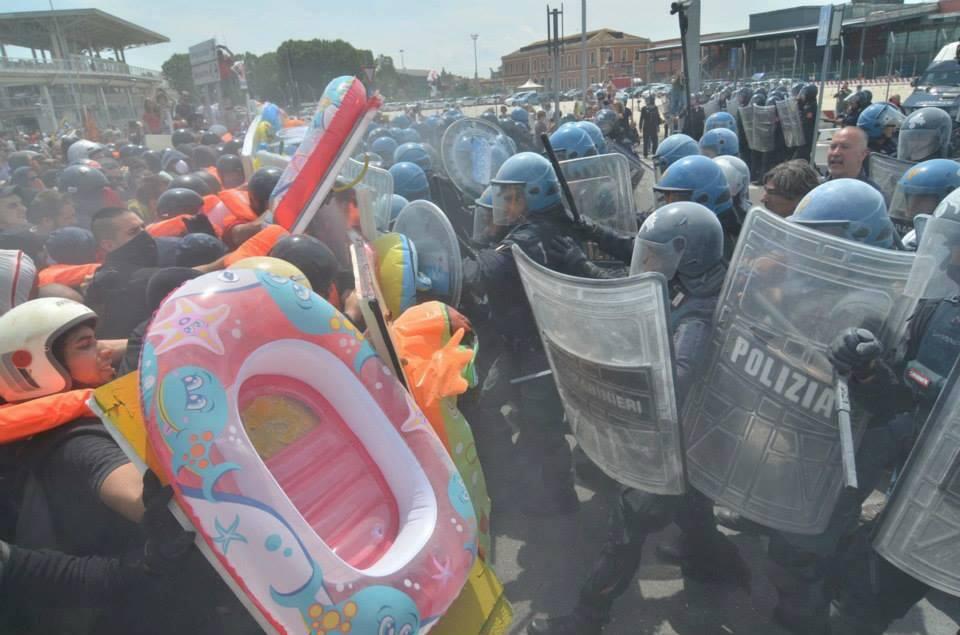 Nuevos escudos anti-policía