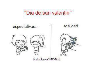 Día de San Valentín - Espectativas / realidad