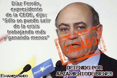 Díaz Ferrán, un crack dando consejos
