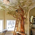 Dibujo de un árbol en casa