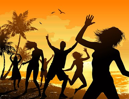Bailando en la playa