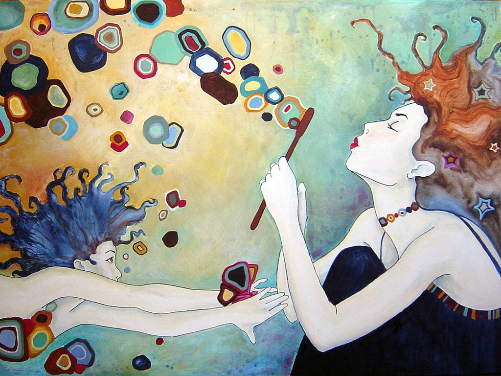 Haciendo burbujas