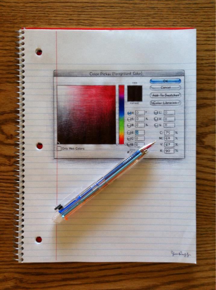 Dibujo herramienta de color Photoshop