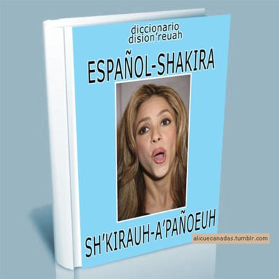 Diccionario español-Shakira