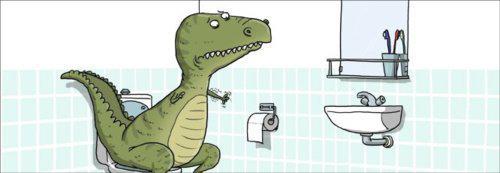 Dinosaurio en apuros