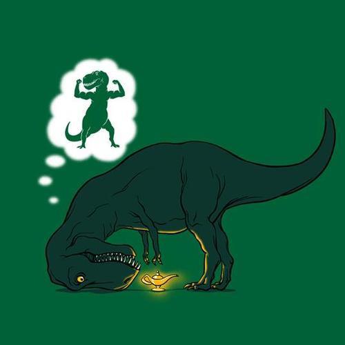 dinosaurio encuentra lampara magica
