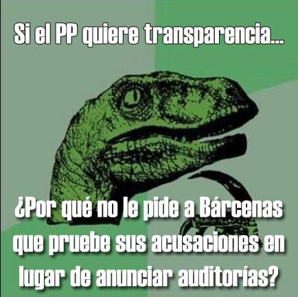 Si el PP quiere transparencia...