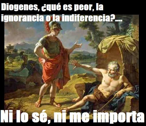 ¿Qué es peor, la ignorancia o la indiferencia?
