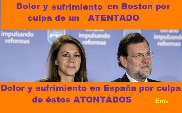 Dolor y sufrimiento en Boston y en España