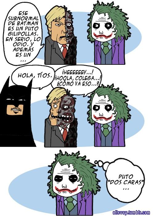 dos caras joker y batman - puto dos caras