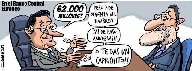 Mariano Rajoy negociando el rescate