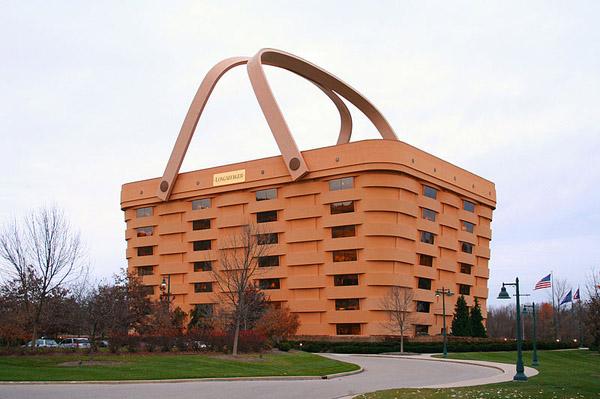 Edificio cesta de mimbre