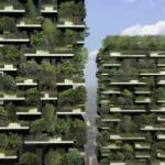 Edificios con árboles