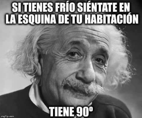 El consejo de Einstein si tienes frío