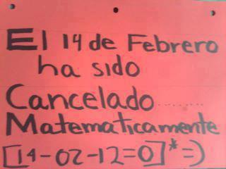 El 14 de febrero ha sido cancelado matemáticamente