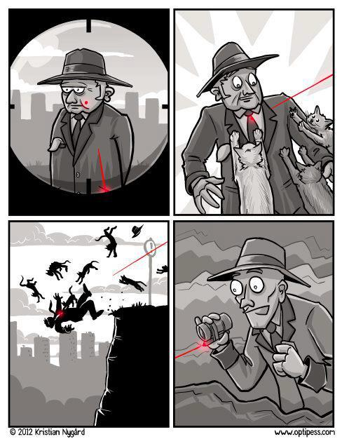 El asesino del puntero láser