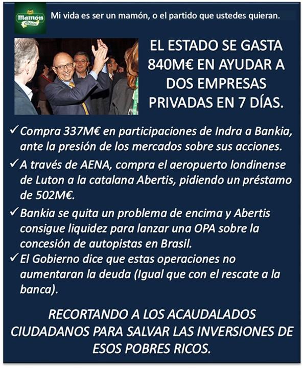 PP: Recordando a los ciudadanos para salvar las inversiones de los ricos