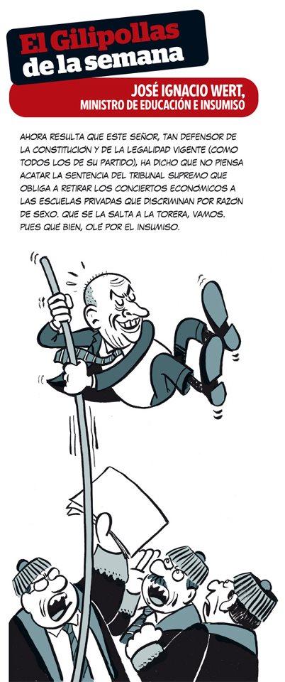 El gilipollas de la semana - José Ignacio Wert