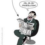 Rajoy leyendo titulares sobre la política económica de Japón
