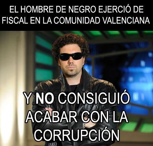 El Hombre de Negro ejerció de fiscal en la Comunidad Valenciana... y no consiguió acabar con la corrupción