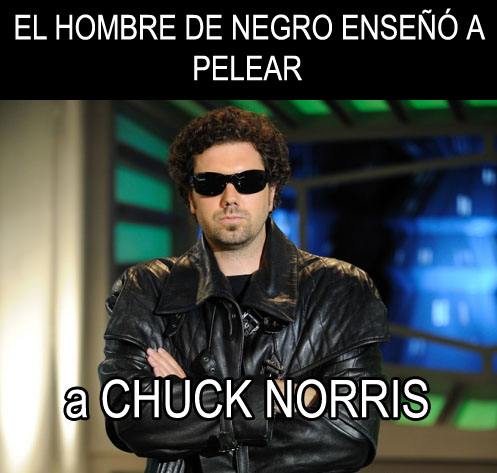 el hombre de negro enseño a pelear a chuck norris