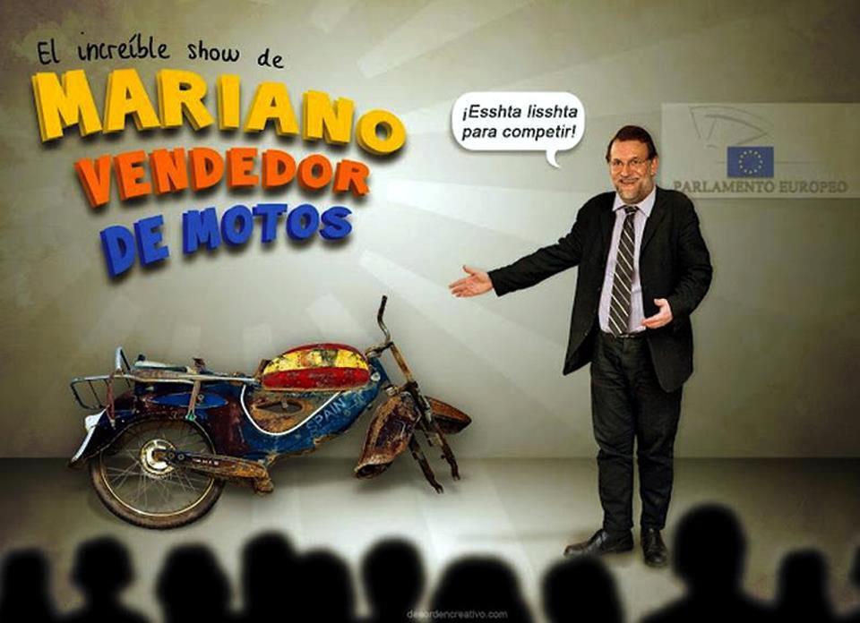 El increible show de Mariano vendedor de motos