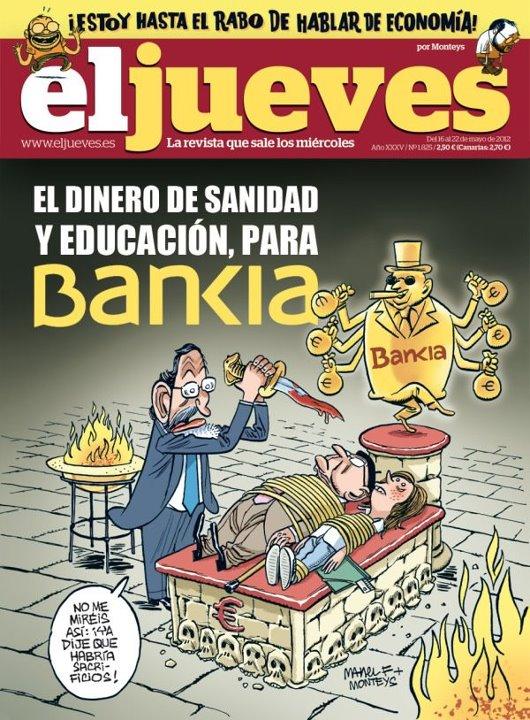 El dinero de educación y sanidad para Bankia