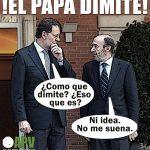 Rajoy y Rubalcaba ante la noticia de la dimisión del papa Benedicto XVI