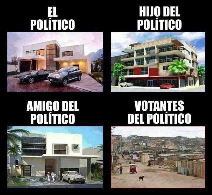 El político, su hijo, sus amigos y sus votantes